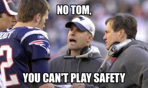 Brady plays Safety
