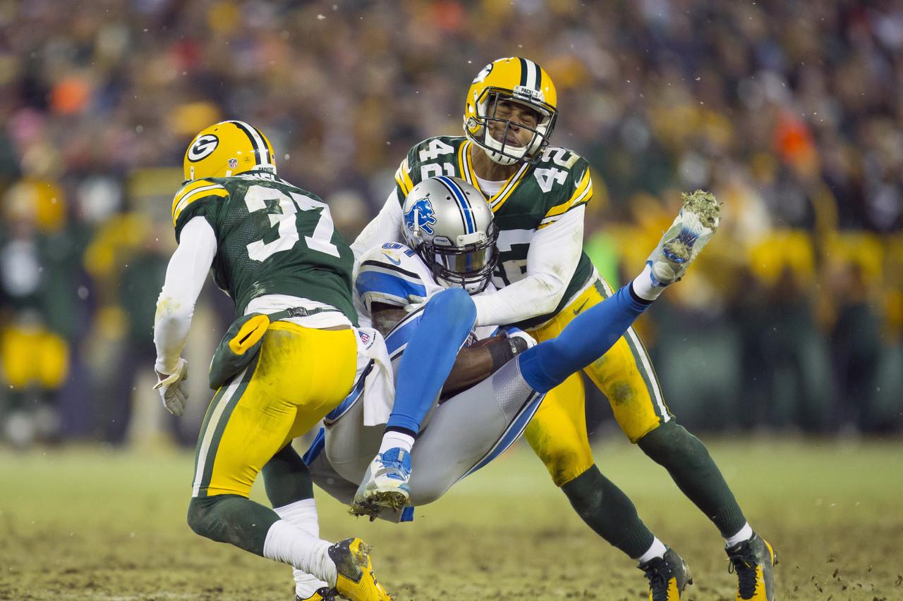 Calvin Johnson vs Morgan Burnett, 2014 NFL Season Week 17, Lions at Packers 2014 12 28