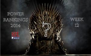 Power Rankings: Week 12