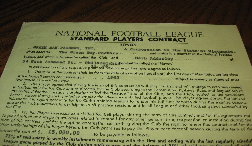 NFL contract