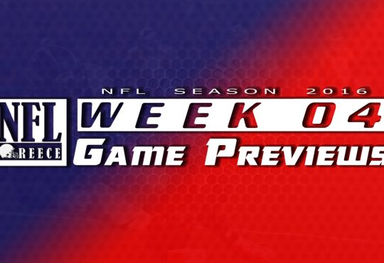 Game Previews Week 4