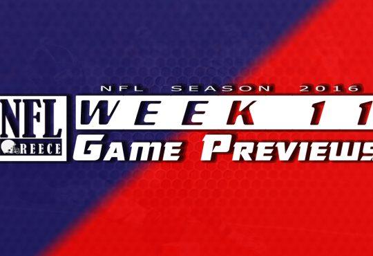 Game Previews Week 11