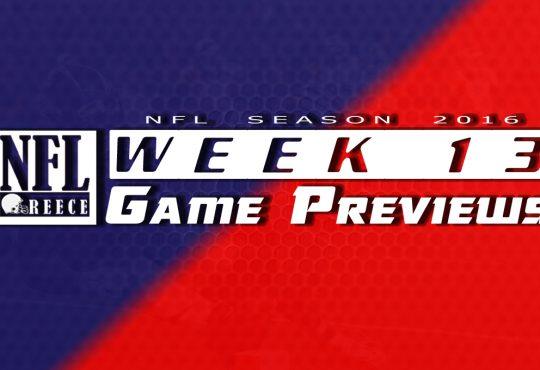 Game Previews Week 13