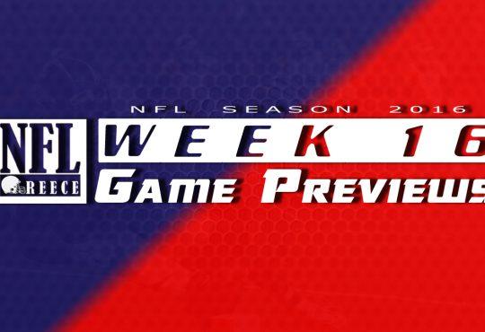 Game Previews Week 16