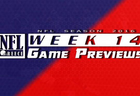 Game Previews Week 14