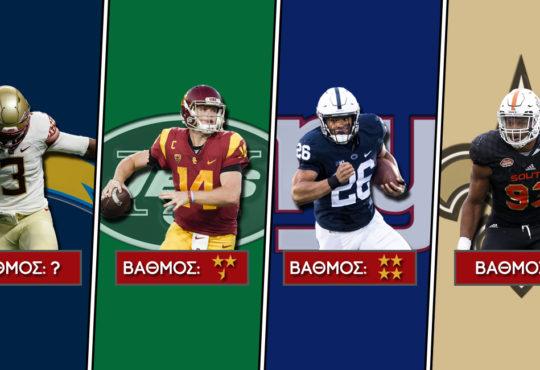 NFL Draft 2018: Βαθμολογίες (Mέρος Β')